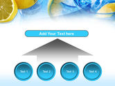 Mineral Water with Lemon PowerPoint Template#8