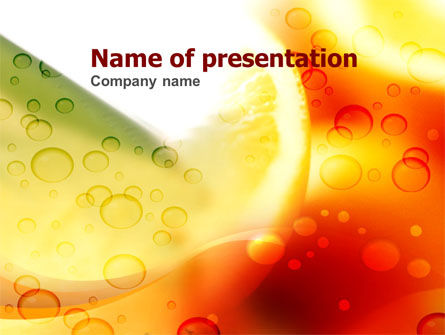 Food & Beverage: Plantilla de PowerPoint - naranja #00382