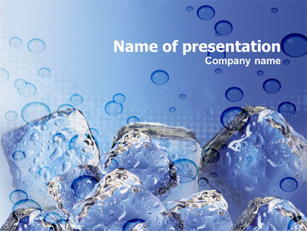 Ice On Rocks PowerPoint Template, 00383, Food & Beverage — PoweredTemplate.com