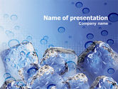 Food & Beverage: Ice On Rocks PowerPoint Template #00383