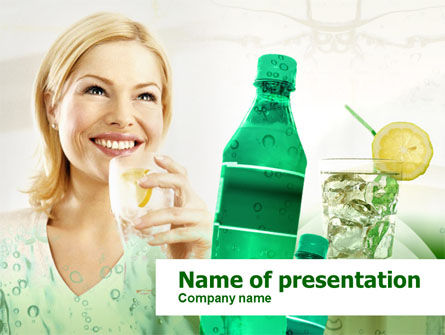 Cold Beverages Free PowerPoint Template, 00384, Business Concepts — PoweredTemplate.com