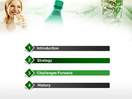Cold Beverages Free PowerPoint Template, Slide 3, 00384, Business Concepts — PoweredTemplate.com