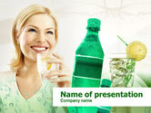 Business Concepts: Cold Beverages Free PowerPoint Template #00384