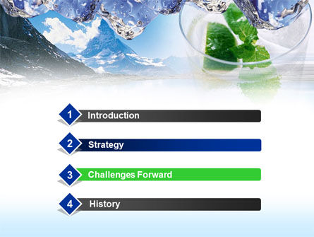 Mountain Fresh PowerPoint Template, Slide 3, 00385, Nature & Environment — PoweredTemplate.com