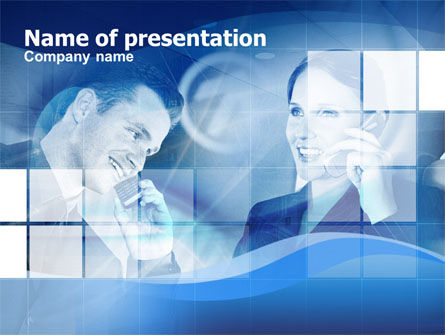 Business: Long Distance Conversation PowerPoint Template #00386
