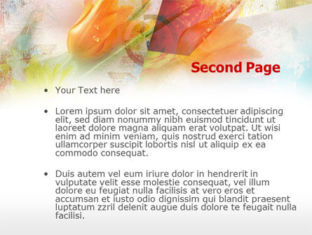 Tender Tulips PowerPoint Template Slide 2