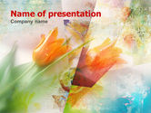Art & Entertainment: Tender Tulips PowerPoint Template #00387