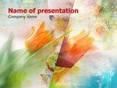 Art & Entertainment: Zarte tulpen PowerPoint Vorlage #00387