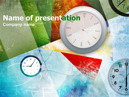 Business Concepts: Time In A Modern Art PowerPoint Template #00388