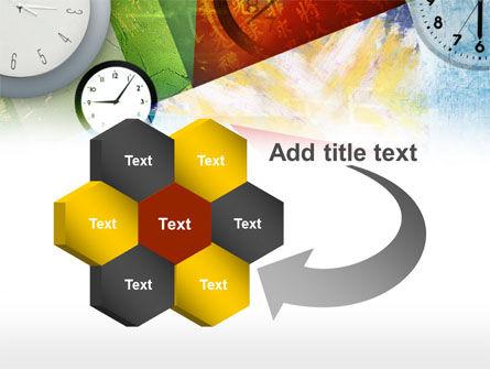 Time In A Modern Art PowerPoint Template Slide 11