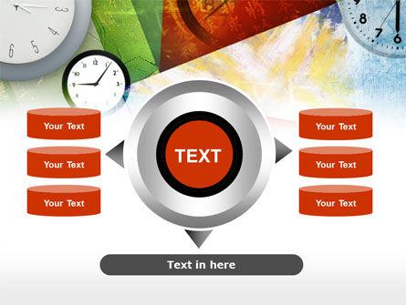 Time In A Modern Art PowerPoint Template Slide 12