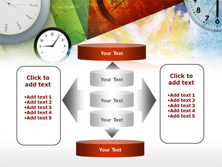 Time In A Modern Art PowerPoint Template Slide 13