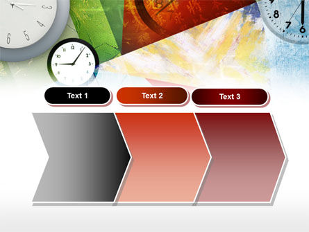 Time In A Modern Art PowerPoint Template Slide 16