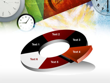 Time In A Modern Art PowerPoint Template Slide 19