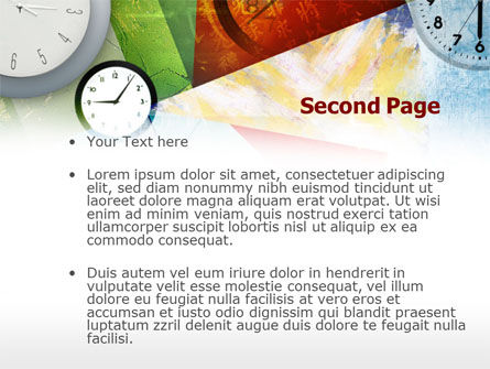 Time In A Modern Art PowerPoint Template Slide 2