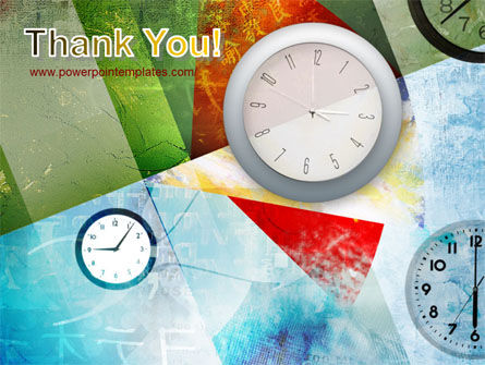 Time In A Modern Art PowerPoint Template Slide 20