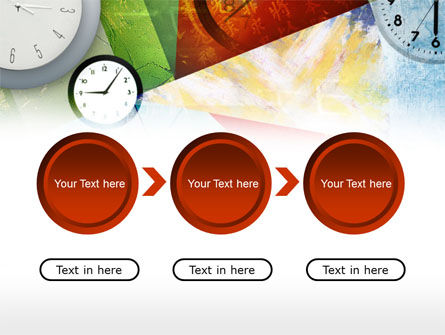 Time In A Modern Art PowerPoint Template Slide 5