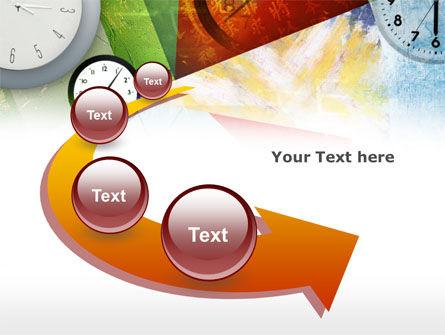 Time In A Modern Art PowerPoint Template Slide 6