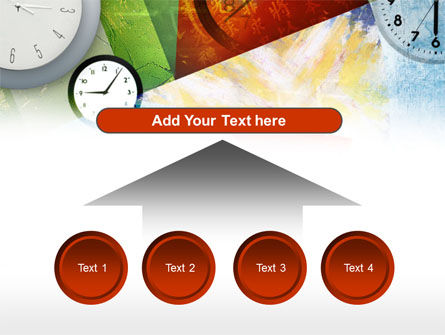 Time In A Modern Art PowerPoint Template Slide 8