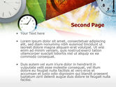 Time In A Modern Art PowerPoint Template#2