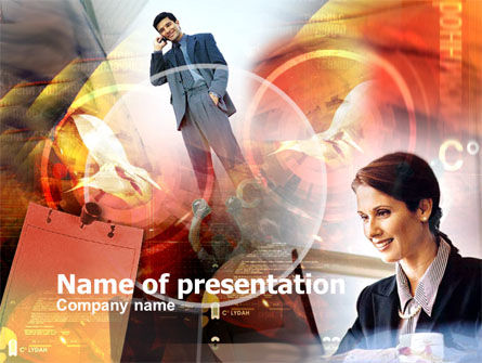 Personal Business Conversation PowerPoint Template, 00391, Art & Entertainment — PoweredTemplate.com