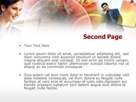 Personal Business Conversation PowerPoint Template, Slide 2, 00391, Art & Entertainment — PoweredTemplate.com