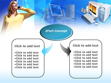 IP Telephony Free PowerPoint Template, Slide 4, 00392, Technology and Science — PoweredTemplate.com