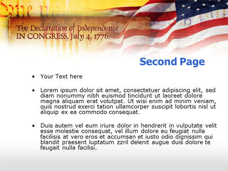 Declaration Of Independence PowerPoint Template Slide 2