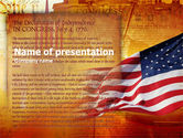 America: Declaration Of Independence PowerPoint Template #00397