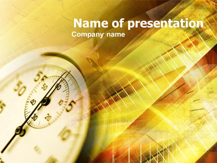 Business Concepts: Stop Watch PowerPoint Template #00399
