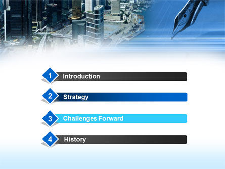 Business City PowerPoint Template Slide 3