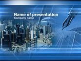 Construction: Business City PowerPoint Template #00400