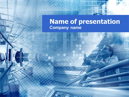 Modern Business Communication PowerPoint Template, 00405, Business Concepts — PoweredTemplate.com
