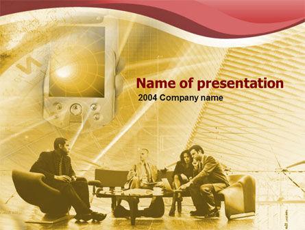 Business: Modèle PowerPoint de équipement de conférence moderne #00406