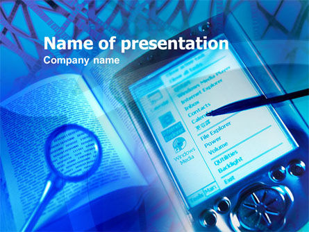 Pocket Reader PowerPoint Template, 00408, Technology and Science — PoweredTemplate.com