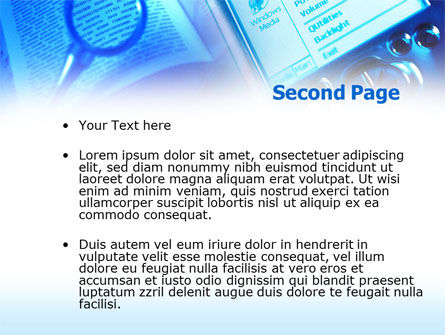 Pocket Reader PowerPoint Template, Slide 2, 00408, Technology and Science — PoweredTemplate.com