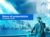 Telecommunication: Modelo do PowerPoint - vida urbana #00409