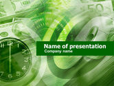 Financial/Accounting: Time Management In Green PowerPoint Template #00412