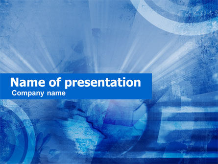 Abstract Blue Map PowerPoint Template, 00414, Abstract/Textures — PoweredTemplate.com