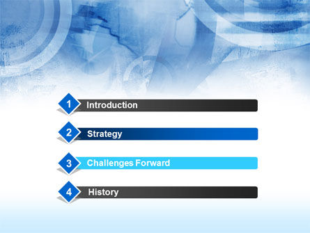 Abstract Blue Map PowerPoint Template, Slide 3, 00414, Abstract/Textures — PoweredTemplate.com