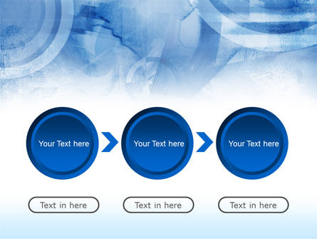Abstract Blue Map PowerPoint Template Slide 5