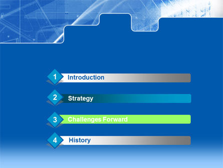Abstract Techno PowerPoint Template Slide 3