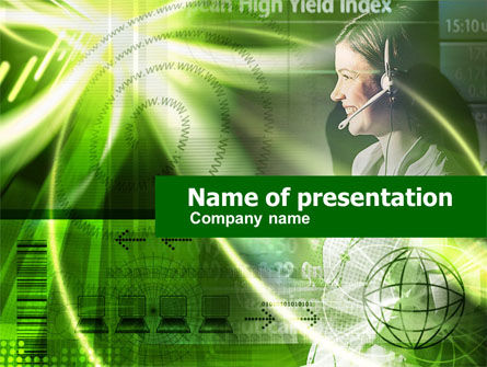 Telecommunication: Telecommunication Links PowerPoint Template #00416