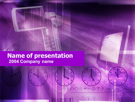 Telecommunication: TV station PowerPoint Template #00417