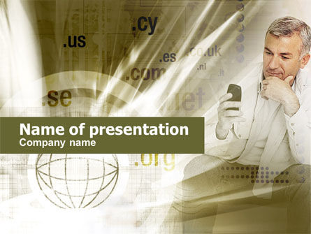 Telecommunication: Mobiel Internet PowerPoint Template #00419