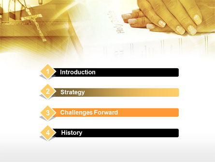 Christianity Triumph PowerPoint Template, Slide 3, 00427, Religious/Spiritual — PoweredTemplate.com