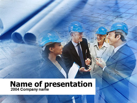 Utilities/Industrial: Builders's Meeting PowerPoint Template #00431
