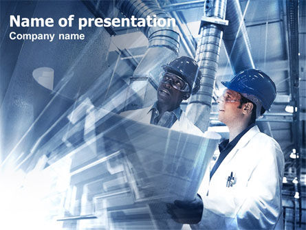 Industrial Process PowerPoint Template, 00432, Utilities/Industrial — PoweredTemplate.com