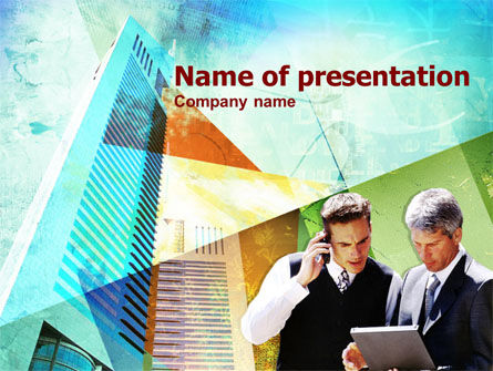 Construction: Business Talk With Checking Data PowerPoint Template #00434