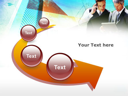 Business Talk With Checking Data PowerPoint Template Slide 6